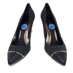 {calvin klein} black pointed toe Nalene heels